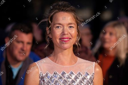 Anna Maxwell Martin poses for photographers upon arrival at the opening gala of the London Film Festival and the premiere of the film 'The Personal History of David Copperfield' in central London
