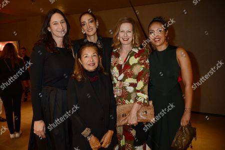 Stock Picture of Bettina Korek, Roxane Zand, Yassmin Ghandehari, Julia Peyton-Jones and Alia Al-Senussi