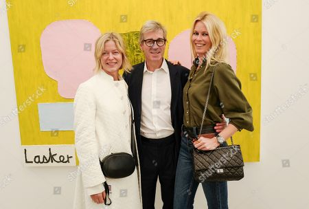 Stock Picture of Lady Helen Taylor, Timothy Taylor and Claudia Schiffer
