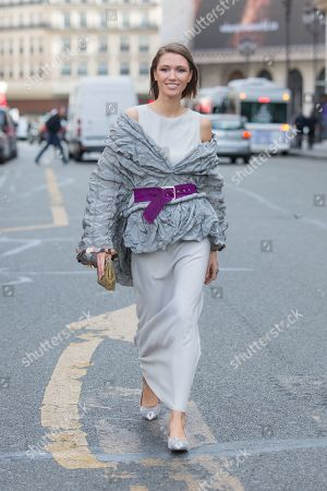 Editorial picture of Street Style, Spring Summer 2020, Paris Fashion Week, France - 30 Sep 2019