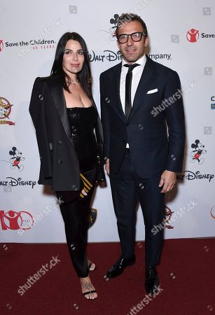 "Sonia Amoruso, Alessandro Del Piero. Sonia Amoruso, left, and Alessandro Del Piero arrive at the Save the Children ""Centennial Celebration: Once in a Lifetime"" event, at The Beverly Hilton Hotel in Beverly Hills, Calif"