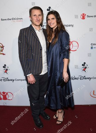 "Scott Campbell, Lake Bell. Scott Campbell, left, and Lake Bell arrive at the Save the Children ""Centennial Celebration: Once in a Lifetime"" event, at The Beverly Hilton Hotel in Beverly Hills, Calif"