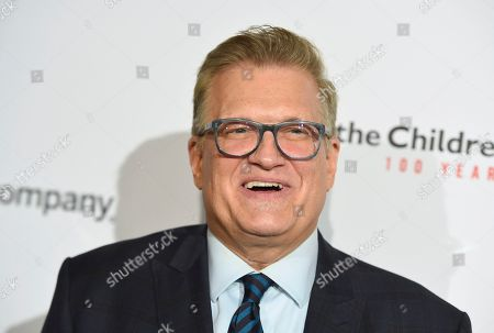 """Drew Carey arrives at the Save the Children """"Centennial Celebration: Once in a Lifetime"""" event, at The Beverly Hilton Hotel in Beverly Hills, Calif"""