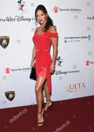 "Sofia Milos arrives at the Save the Children ""Centennial Celebration: Once in a Lifetime"" event, at The Beverly Hilton Hotel in Beverly Hills, Calif"