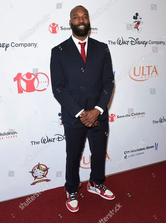 "Stock Image of Baron Davis arrives at the Save the Children ""Centennial Celebration: Once in a Lifetime"" event, at The Beverly Hilton Hotel in Beverly Hills, Calif"