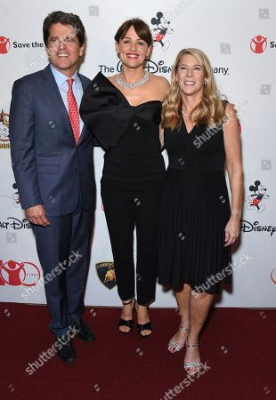 "Mark Shriver, Jennifer Garner, Carolyn Miles. Mark Shriver, SVP, U.S. programs and advocacy, Save the Children, from left, Jennifer Garner and Carolyn Miles, CEO, Save the Children, arrive at the Save the Children ""Centennial Celebration: Once in a Lifetime"" event, at The Beverly Hilton Hotel in Beverly Hills, Calif"