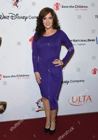 """Maria Canals-Barrera arrives at the Save the Children """"Centennial Celebration: Once in a Lifetime"""" event, at The Beverly Hilton Hotel in Beverly Hills, Calif"""