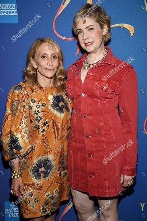"Jill Furman, Jenny Steingart. Producers Jill Furman, left, and Jenny Steingart attend ""Freestyle Love Supreme"" Broadway opening night at the Booth Theatre, in New York"