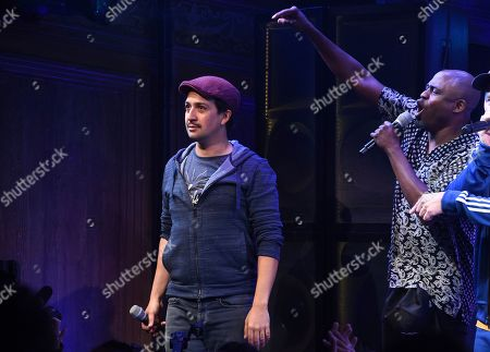"""Lin-Manuel Miranda, Wayne Brady. Xxx attends """"Freestyle Love Supreme"""" Broadway opening night at the Booth Theatre, in New York"""