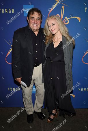 """Stock Photo of Dan Lauria, left, and guest attend """"Freestyle Love Supreme"""" Broadway opening night at the Booth Theatre, in New York"""
