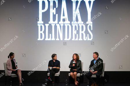 Cillian Murphy, Caryn Mandabach and Steven Knight