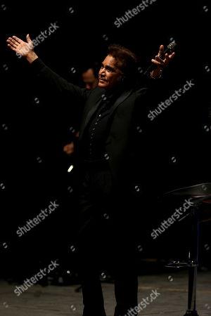 Jose Luis Rodriguez, nicknamed El Puma, performs during a show of his 'Grateful' tour, in Quito, Ecuador, 02 October 2019.