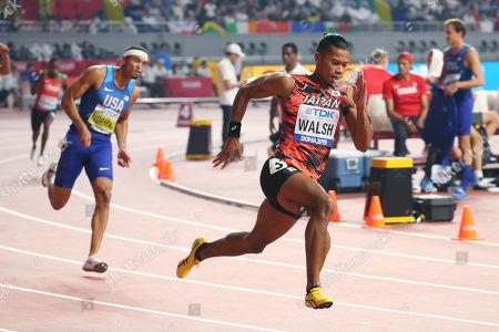 (L to R) Michael Norman (USA), Julian Jrummi Walsh (JPN) - Athletics : IAAF World Championships Doha 2019 Men's 400m Semi-final