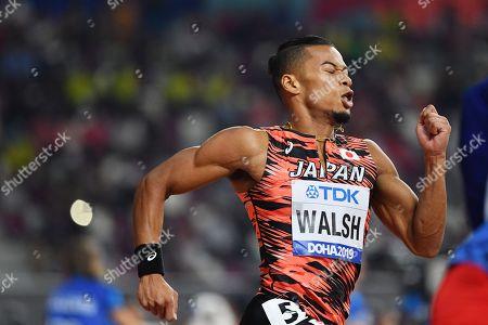 Stock Photo of Julian Jrummi Walsh (JPN) - Athletics : IAAF World Championships Doha 2019 Men's 400m at Khalifa International Stadium in Doha, Qatar.