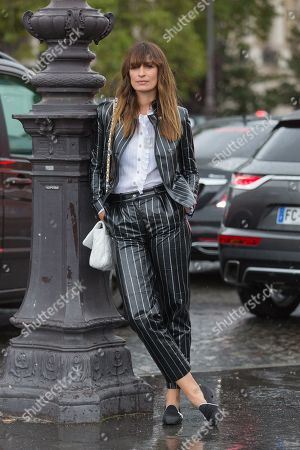 Editorial photo of Street Style, Spring Summer 2020, Paris Fashion Week, France - 01 Oct 2019