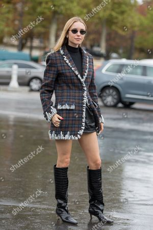 Editorial image of Street Style, Spring Summer 2020, Paris Fashion Week, France - 01 Oct 2019