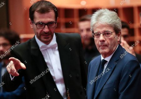 European Commissioner-designate in charge of Economy, from Italy, Paolo Gentiloni (R), during his hearing before the European Parliament Committee on Economic and Monetary Affairs in Brussels, Belgium, 03 October 2019.