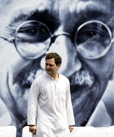 Congress leader Rahul Gandhi during the Gandhi Sandesh Padyatra to mark 150th birth anniversary of Mahatma Gandhi at Rajghat
