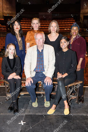 Clockwise from Sir Philip Pullman, Raffiella Chapman, Zing Tseng, Anne-Marie Duff, Niamh Cusack, Helen Aluko, and Dinita Gohil.