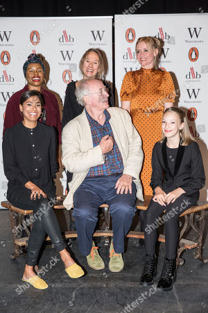 Clockwise from Sir Philip Pullman, Dinita Gohil, Helen Aluko, Niamh Cusack, Anne-Marie Duff, and swith Raffiella Chapman