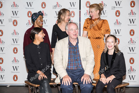 Clockwise from Sir Philip Pullman, Dinita Gohil, Helen Aluko, Niamh Cusack, Anne-Marie Duff, and with Raffiella Chapman