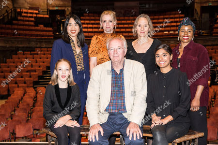 Stock Picture of Clockwise from Sir Philip Pullman, Raffiella Chapman, Zing Tseng, Anne-Marie Duff, Niamh Cusack, elen Aluko, and Dinita Gohil.