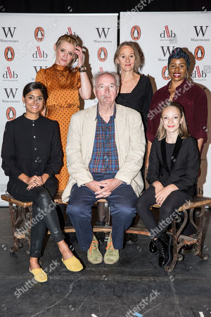 Stock Image of Clockwise from Sir Philip Pullman, Dinita Gohil, Helen Aluko, Niamh Cusack, Anne-Marie Duff, and swith Raffiella Chapman).