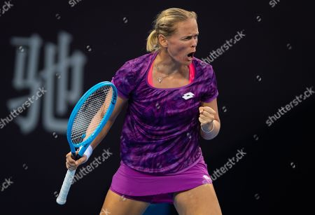 Stock Picture of Anna-Lena Groenefeld of Germany playing doubles