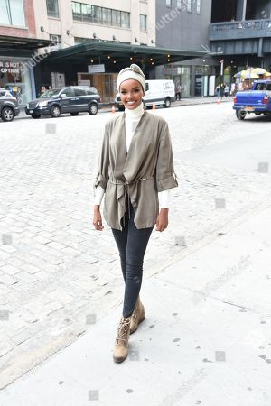 Halima attends the SOREL Mile-Long Runway event styled by Kate Young, showcasing SOREL Fall 19 Collection on 100 NYC women, held at Highline Stages, New York, NY @SORELfootwear #MILELONGRUNWAY #SORELstyle