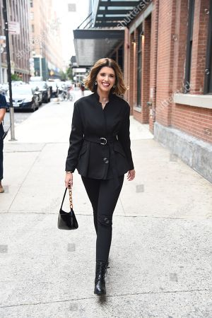 Katherine Schwarzenegger arrives at the SOREL Mile-Long Runway styled by Kate Young, showcasing SOREL Fall 19 Collection on 100 NYC women, held at Highline Stages, New York, NY @SORELfootwear #MILELONGRUNWAY #SORELstyle
