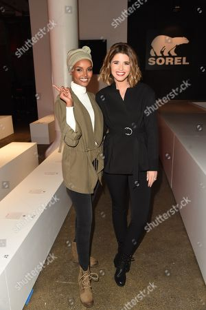 Katherine Schwarzenegger and Halima attend the SOREL Mile-Long Runway styled by Kate Young, showcasing SOREL Fall 19 Collection on 100 NYC women, held at Highline Stages, New York, NY @SORELfootwear #MILELONGRUNWAY #SORELstyle