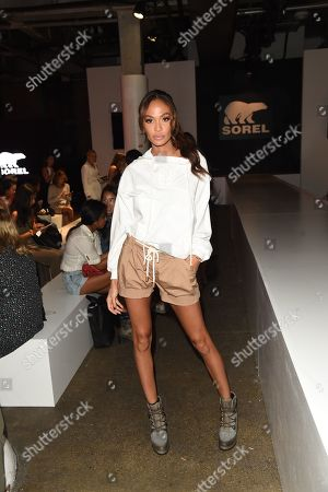 Joan Smalls attends the SOREL Mile-Long Runway event styled by Kate Young, showcasing SOREL Fall 19 Collection on 100 NYC women, held at Highline Stages, New York, NY @SORELfootwear #MILELONGRUNWAY #SORELstyle