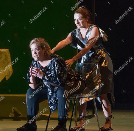 Alice Coote as Orpheus, Soraya Mafi as Love,