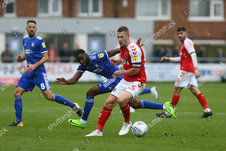 Stock Image of Ipswich?s Kane Vincent-Young and Fleetwood?s Paul Coutts