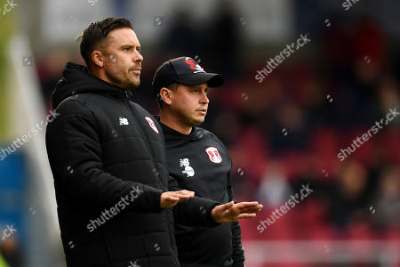 Ross Embleton manager of Leyton Orient and Danny Webb.