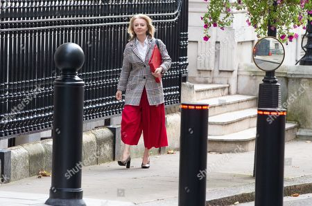 Liz Truss, Secretary of State for International Trade and President of the Board of Trade, Minister for Women and Equalities, arrives for a Cabinet meeting at Downing Street.