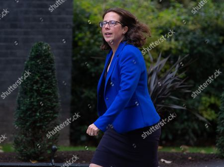 Stock Photo of Baroness Evans of Bowes Park, Leader of the House of Lords, Lord Privy Seal, arrives for a Cabinet meeting at Downing Street.