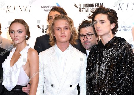 Lily-Rose Depp, Tom Glynn-Carney and Timothee Chalamet