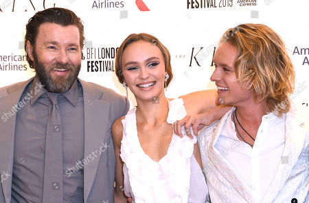 Joel Edgerton, Lily-Rose Depp and Tom Glynn-Carney