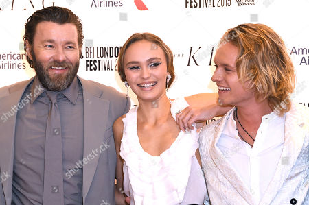 Stock Photo of Joel Edgerton, Lily-Rose Depp and Tom Glynn-Carney