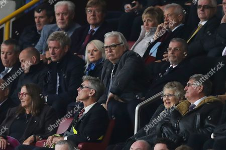 Bill Kenwright watches from the stands in disgust