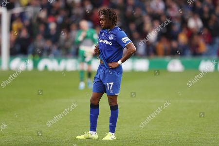 Stock Image of Alex Iwobi of Everton looks dejected at full time