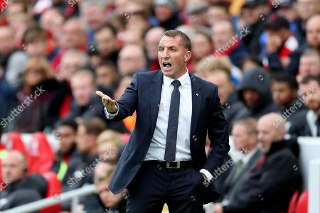 Stock Picture of Leicester City manager Brendan Rodgers