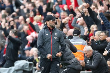 Reaction from Liverpool Manager Jurgen Klopp was Sadio Mane scores the first goal