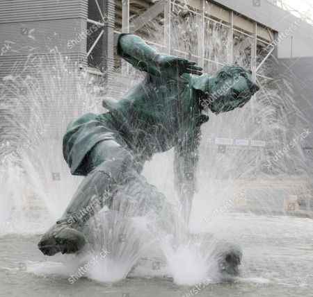 Stock Picture of 5th October 2019, Deepdale, Preston, England; Sky Bet Championship, Preston North End v Barnsley : The Sir Tom Finney statue outside the Deepdale stadium Credit: Conor Molloy/News Images