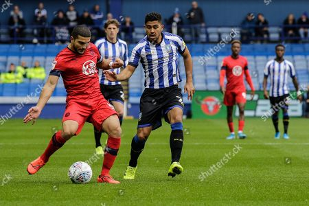 Stock Picture of 5th October 2019, Hillsborough, Sheffield, England; Sky Bet Championship, Sheffield Wednesday v Wigan Athletic : Sam Morsy of Wigan  passes the ball 