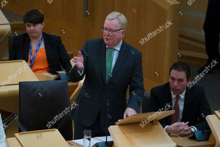 Scottish Parliament First Minister's Questions - Ruth Davidson, Jackson Carlaw, Interim Leader of the Scottish Conservative and Unionist Party, and Maurice Golden