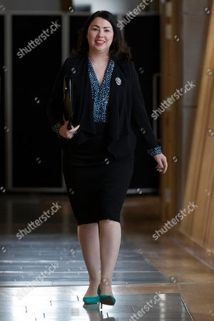 Stock Picture of Scottish Parliament First Minister's Questions - Monica Lennon makes her way to the Debating Chamber.