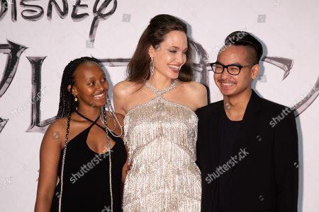 Zahara Jolie-Pitt, Angelina Jolie and Maddox Jolie-Pitt