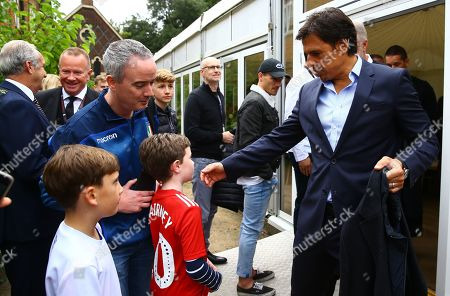 Chris Coleman meets Fulham fans after the q&a at Fulham Palace